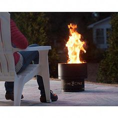 HY-C Flame Genie FG-16 Wood Pellet Fire Pit Review #flamegenie #firepit #FireplaceLab