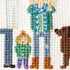 Details! Cross stitch family portraits (@famolya) Instagram