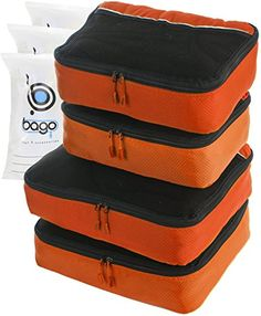 Suitcase Organizer 4pcs Mesh Pouch Best Set  Plus 6pcs Organizer Bags ORANGE *** Continue to the product at the image link-affiliate link. #BestSelling Camping Gear