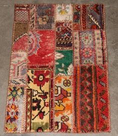 patchwork rug from kush