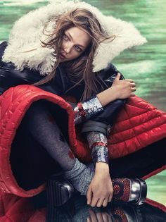 Puff Piece    www. vogue .co.uk    Photography: Craig McDean   Model: SashaPivovarova   Styling: Kate Phelan   Hair: Orlando Pitt...
