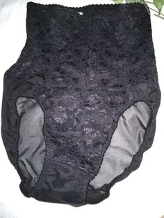 $9.96 or best offer Sears Shapewear Medium Leg Panty Girdle Black Style 26671 USA Made #Sears