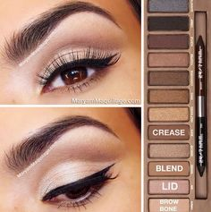 Naked - love this look! Need to get this palette soon!