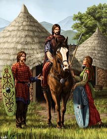 An illustration of a Celtic village for a history magazine. Iron Age, Ancient Rome, Ancient History, Celtic Clothing, Celtic Warriors, Celtic Culture, Celtic Mythology, Celtic Art, Anglo Saxon