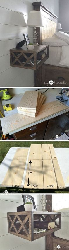 Check out how to build an easy DIY floating nightstand from a single 1x8x8 board @istandarddesign