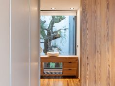 Image 25 of 30 from gallery of Cientocinco House / JAMStudio arquitectos + Ivanna Cresta. Photograph by Gonzalo Viramonte Residential Architecture, Contemporary Architecture, Amazing Architecture, Architecture Design, House Layout Plans, House Layouts, House Plans, Small Villa, Wood Cladding