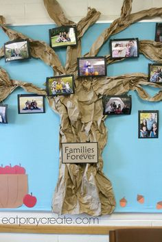 february church bulletin board ideas | FamilyTree1 Families are Forever Primary Bulletin Board Idea