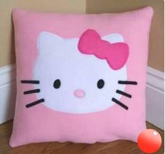 19 Cute & Charming Hello Kitty Bedroom Decoration - Home Decor IdeasThese soft and cuddly pillows are the perfect touch for any child's bedroom. Safe for toddlers Handmade inch pillows MachineHow to make a simple pillow coverWhy is her nose not yel Sofa Throw Pillows, Cute Pillows, Baby Pillows, Cushions, Hello Kitty Bedroom, Cat Bedroom, Hello Kitty Room Decor, Bedroom Girls, Girl Room
