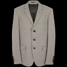 Pretty Green Dogtooth Three-button Tailored Jacket