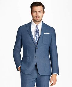 ebbbb3d0f86 Brooks Brothers Regent Fit BrooksCloud Tic 1818 Suit Groomsmen Suits