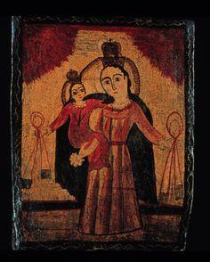 La Virgen del Carmen: Our Lady of Mount Carmel Retablo Pedro Antonio Fresquis late 18th-early 19th Century New Mexico