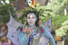 Fairy costume. Love the make-up