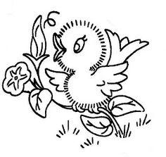 Estou procurando desenhos para bordados de richilieu e acabei achando estes passarinhos que servem para bordar e pintar. Lindos!!   ...
