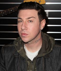 Zacky Vengeance at the 2013 NAMM show. Geez, those eyes. Those lips. That face. He's perfect.