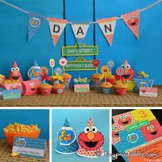 Elmo Birthday Party Printables With Matching by Tinyprintables