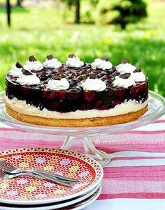 ciasto z czeresniami i budyniem