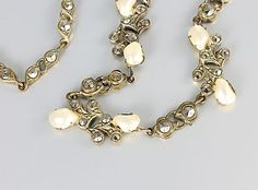 Art Deco Czech Marcasite and Pearl Necklace