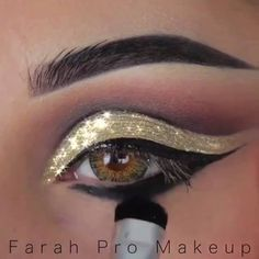 Amazing Liner & Eye Makeup Tutorial <3 By: @farahpromakeup Shop here --> https://zaccessoriez.com  #beauty #Fashion #Jewelry #Girl #makeup  #Watches #beautiful #love #cute #happy #amazing