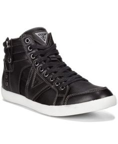Guess Jarlen Hi-Top Sneakers - Black/Black/Black 9.5
