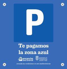 """Ensanche Área Comercial Pamplona. Incorporamos la """"Moneda de la Zona azul"""" a nuestros servicios. Con un coste de 1,05€ para nuestros asociados, tiene un valor en las máquinas ZER de 2,10€. Más info en 948228777"""
