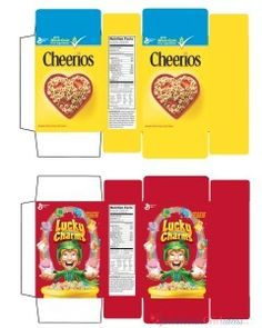 Cereal Boxes for #Miniature creations / Printables, labels and food packaging / Dollhouse / Scale 1:2
