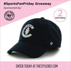 It's #SportsFanFriday and time for another #giveaway! Enter to win a @'47 Brand #baseball cap in your favorite #MLB team TODAY ONLY: www.thestyleref.com. #hat #sports