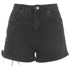 TOPSHOP MOTO Black Girlfriend Shorts (€32) ❤ liked on Polyvore featuring shorts, bottoms, pants, denim shorts, topshop, black, topshop shorts, frayed high waisted shorts, jean shorts and high rise jean shorts
