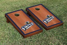 Augustana Vikings Rosewood Cornhole Bag Toss Set