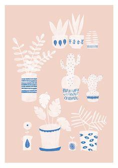 Pots & Plants Print by Studio Meez