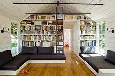 Image result for built in bookcase with room for sofa