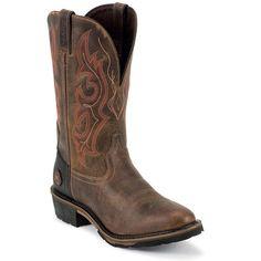 Justin Original Workboots Men's Hybred Waterproof Western Work Boots