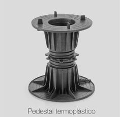 Pedestal termoplástico com altura variável de 60 a 670mm.  Thermoplastic pedestals with a height varying between 60 and 670mm.  Pavimento sobrelevado - Raised  flooring #itcom #itcomindustrial #pavimentosobreelevado #raisedflooring #accessfloor #architecture #architektur #arquitectura