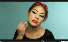 Poison Ivy makeup - for my costume this year!