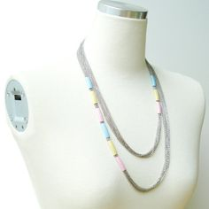 Pastel Color Pipe Doubled Necklace by StudioHx3 on Etsy, $49.00