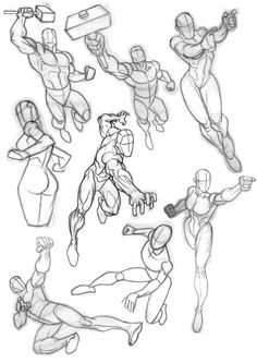 One artist I really admire is Carlos Gomez.Love the way he can twist and pose a body in the most effective and dynamic way possible. Was looking at some of his Avengers stuff and decided to break them down to the bare structures before all the detail goes in. I think there's a combination here of Black Widow, Hawkeye, Black Panther and Thor.