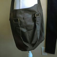 Joie olive green tote Like new Faux leather double handle crossbody strap tote Joie Bags Totes