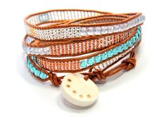Moraa 4x wrap bracelet  Sasa Designs by the Deaf sells handcrafted jewelry made in Kenya by Deaf women working to support their families and send their children to school.