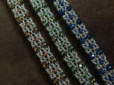 Artisan Chain Maille Czech Beaded Bracelet from Freya Jewelry