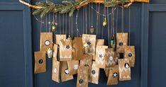 Original advent calendar: 20 cool and homemade ideas - Deco. Homemade Advent Calendars, Advent Calendar Activities, Advent Calendars For Kids, Advent Calenders, Diy Advent Calendar, Calendar Ideas, Easy Christmas Crafts, Christmas Ribbon, Christmas Activities
