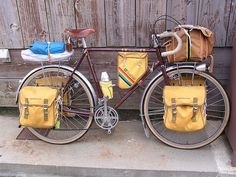 What a bike, fully loaded for bicycle touring.