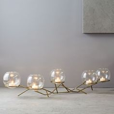 Brass + Glass Globe Centerpiece | west elm