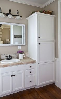 Cool 45 Gorgeous Bathroom Cabinet Remodel Ideas. More At Https://trendhomy.