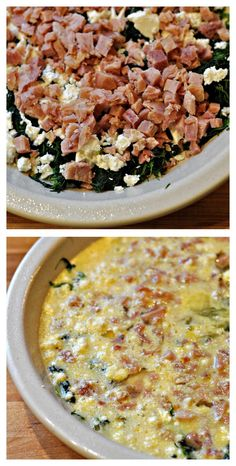 akers of love: Ham and Spinach No-Crust Quiche