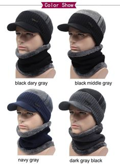 Winter Hats Beanies For Men Women Wool Scarf Caps Bonnet Knitted Hat  Accessories df59adfed734