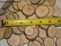 "100 x 1"" to 1.5"" tree slices, rustic wedding, wood slices, buttons, cookies"