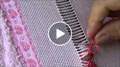 Passo a passo da bainha aberta Hand Embroidery Tutorial, Hand Embroidery Stit… – hand embroidery Hand Embroidery Tutorial, Hand Embroidery Stitches, Hand Embroidery Designs, Hand Stitching, Knot Blanket, Blanket Stitch, Hem Stitch, Drawn Thread, Hardanger Embroidery