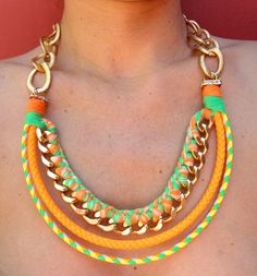 neon necklace by romualda on Etsy