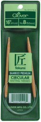 "wish I could find a Metal or Rosewood 10mm-16"" circular needle.....  Takumi Bamboo Circular Knitting Needles 16''-Size 15/10mm."