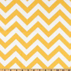 Premier Prints ZigZag Slub Yellow/White - think I'm going to make some throw pillows out of this.