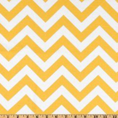 Premier Prints ZigZag Slub Yellow/White - think I'm going to make some throw pillows out of this.